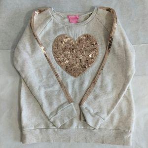 💥Host Pick💥Kids HEART SPARKLE sweatshirt Sz L 6X
